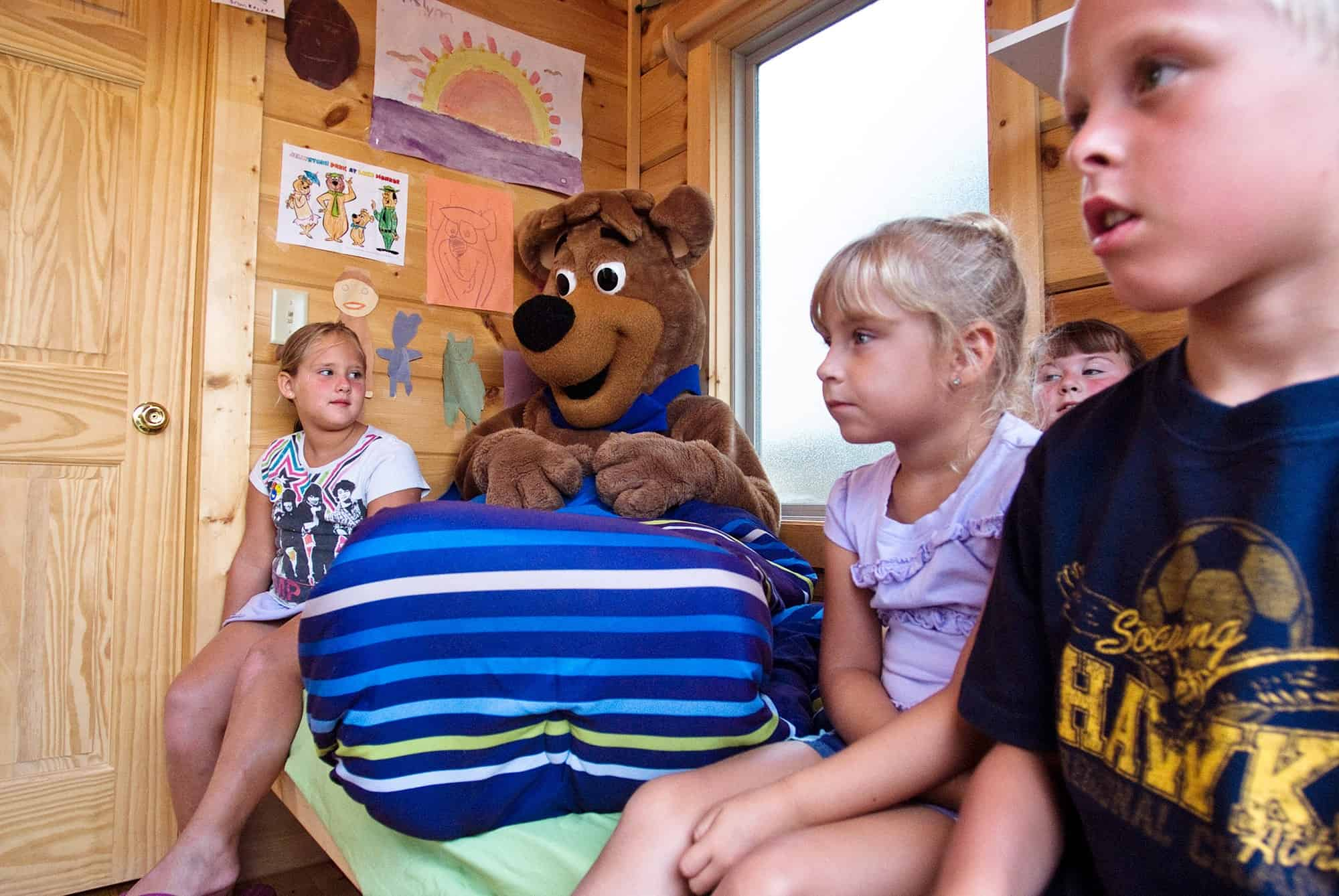 story time with Boo Boo at RV Park Bloomington IN