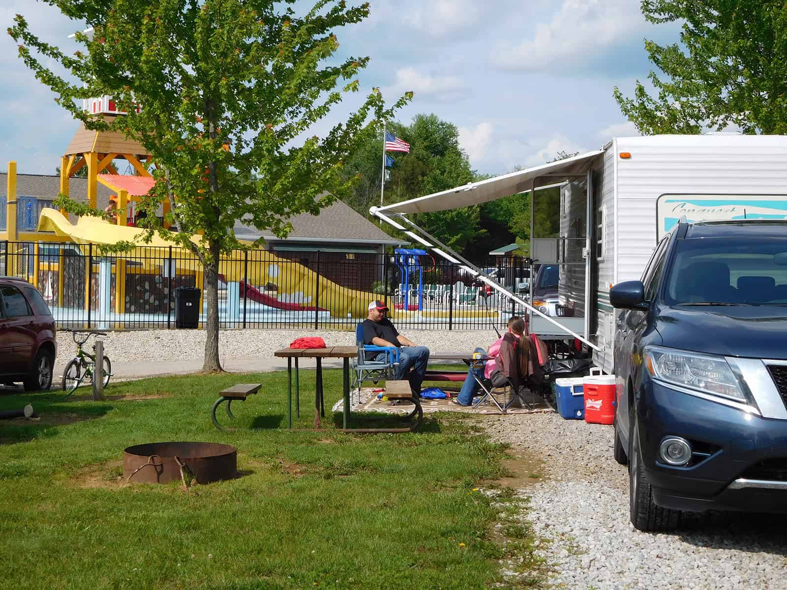 Campsites at RV Park Bloomington IN