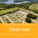 Flash Sale: /night for an RV Site Sun-Thurs at RV Park Bloomington IN