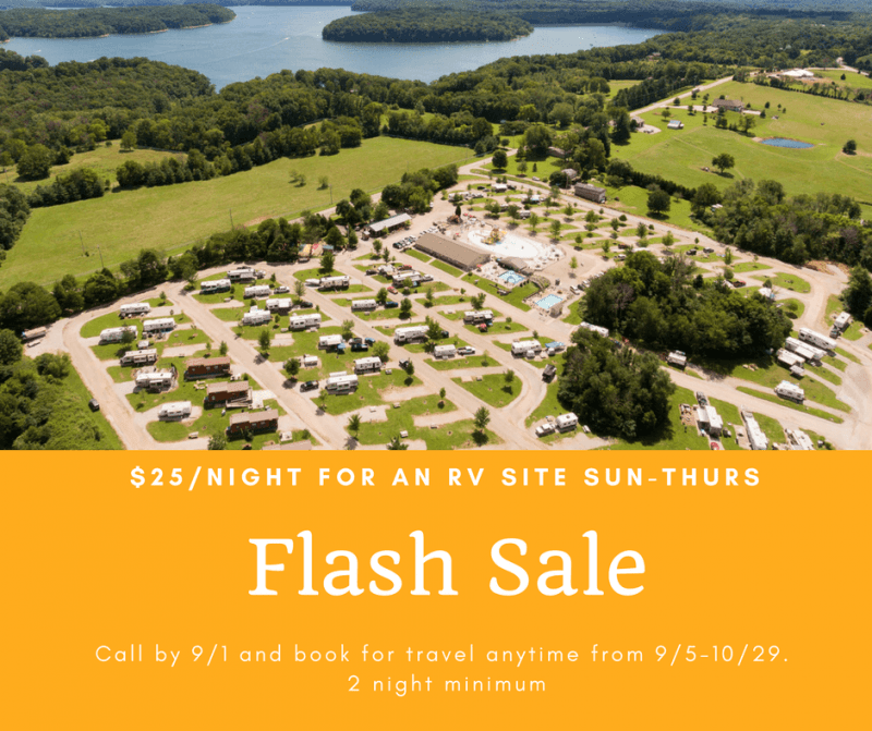 Flash Sale: $25/night for an RV Site Sun-Thurs at RV Park Bloomington IN