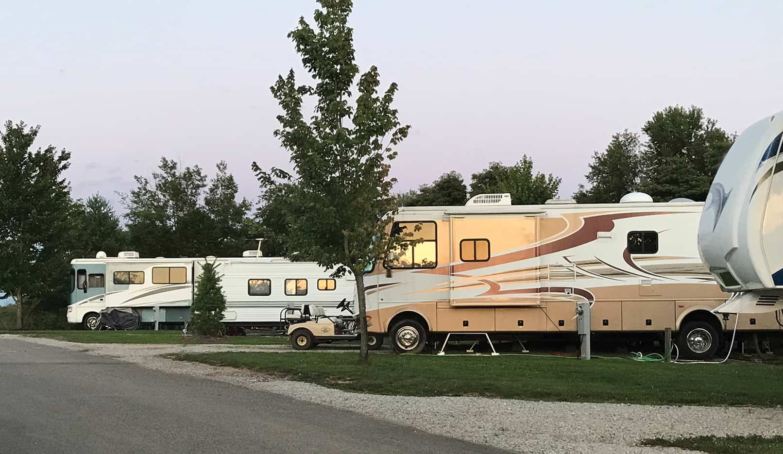 RV Sites at RV Park Bloomington IN